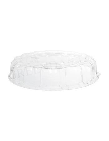 Plastfad til sushi m/låg Ø40,6cm 50stk/kar.