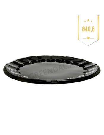 Plastfad til sushi m/låg Ø40,6cm 50stk/kar -