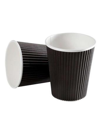 Kaffebæger 11,8cl (4oz) Ripple Brun 24x40stk/kar