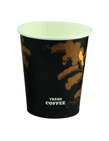 Kaffebæger HotCup Sort 20x50stk/kar