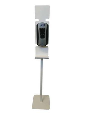 Stander til berøringsfri dispenser m/monteringsplade Hvid