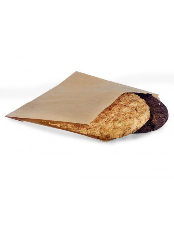 Burgerlomme stor brun 15x18cm