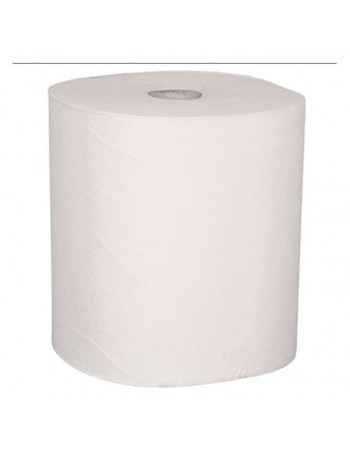 Håndklæderulle 2-lags Midi Ø19cm hvid 100% nyfiber-110039