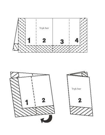 Servietter med tryk 1/8 40x40cm 2-lags