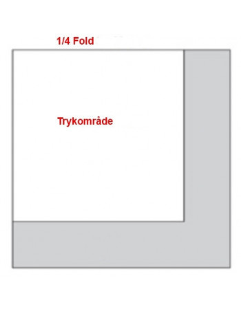 Servietter med tryk 1/4 40x40cm 3-lags -