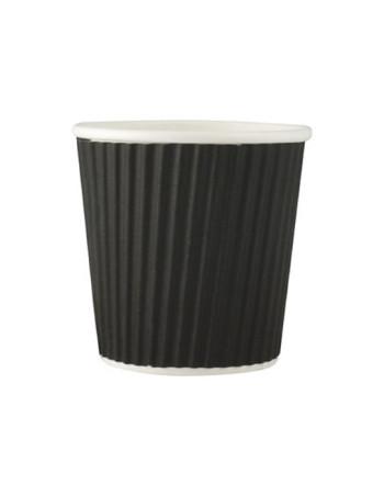 Espresso Kaffebæger Ripple Sort 118ml. Espresso  (4 oz,) 40 stk/ps.