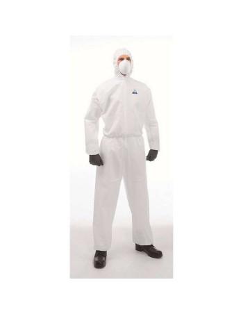 Sikkerhedsdragter C1 XL hvid smudsafvisende 1stk/pak