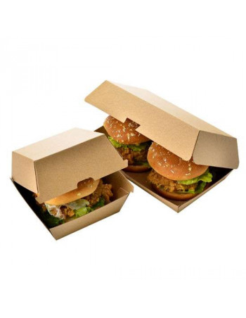 Sandwich Menu Boks Take-Away brun krt. 12x18x7,5cm 200 stk