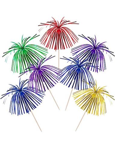 Partypind palmetræ med top farver -