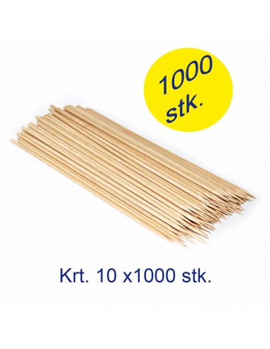Spear træ 150mm Ø3mm bambus  Krt. 10x1000pc/pk. -