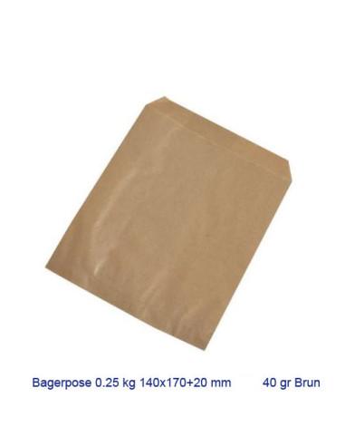 Bagerpose brun 1/4kg 1000stk