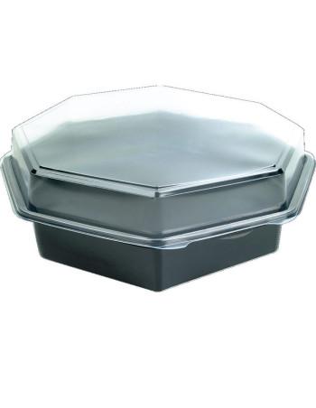 Plastbakke Octaview 1800ml 305x315x60mm sort 75stk/kar -