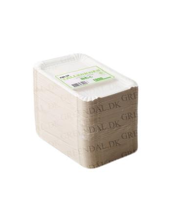 Pølsebakke 16x10cm hvid pap 250stk/pk