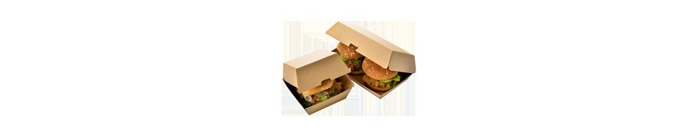 Burger indpakning - Burgeræske både stor og lille, Burgerbokse,...