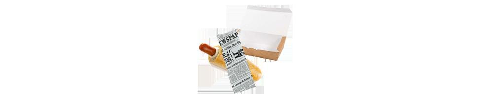 Pølsebakker og poser - Hotdogposer, Pølseæsker, pølsebakker....