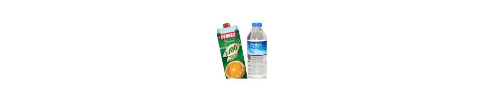 Vand, juice og kakao -