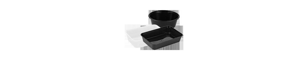 Micro Bakker - Køb emballage til fødevarer plastbakker runde i...